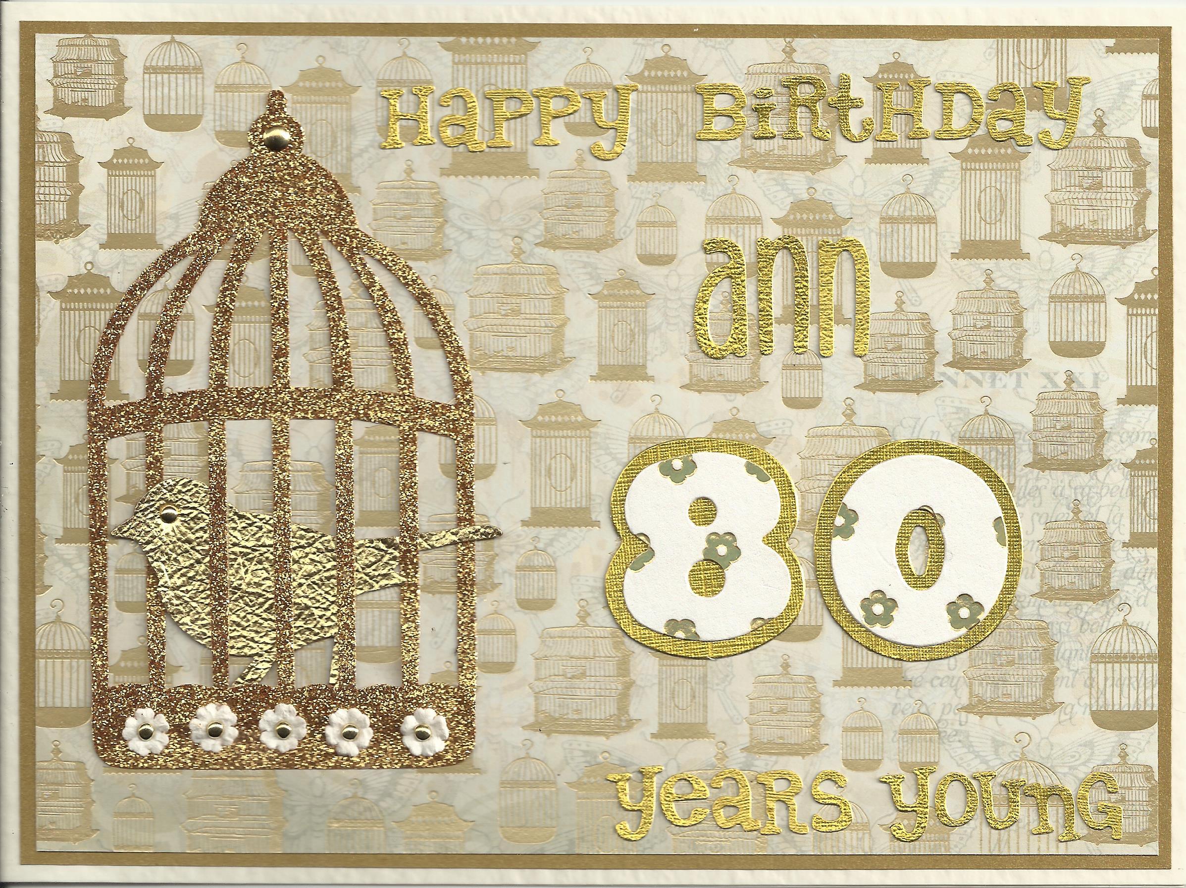 80th birthday birdcage