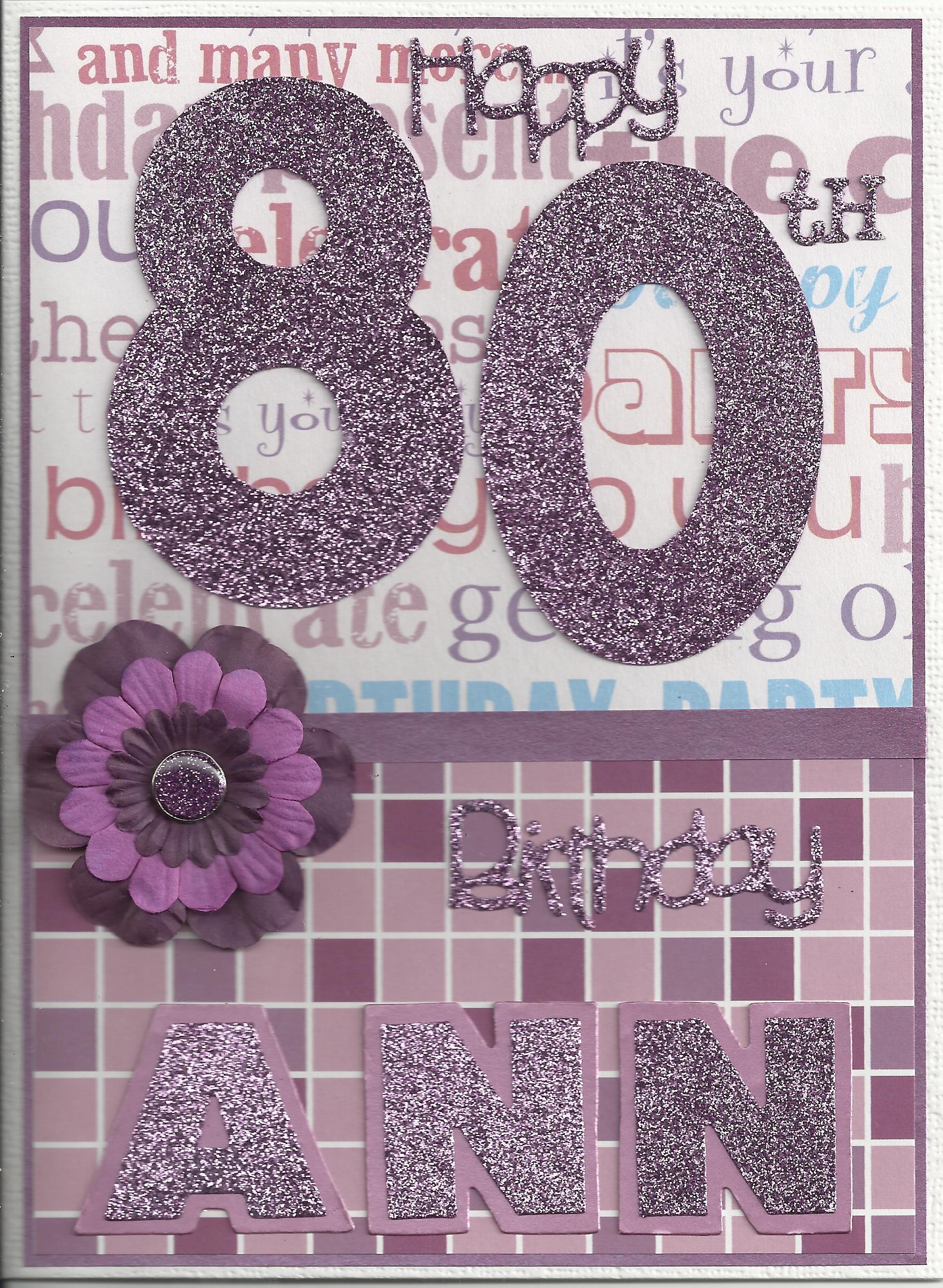 80th birthday bling