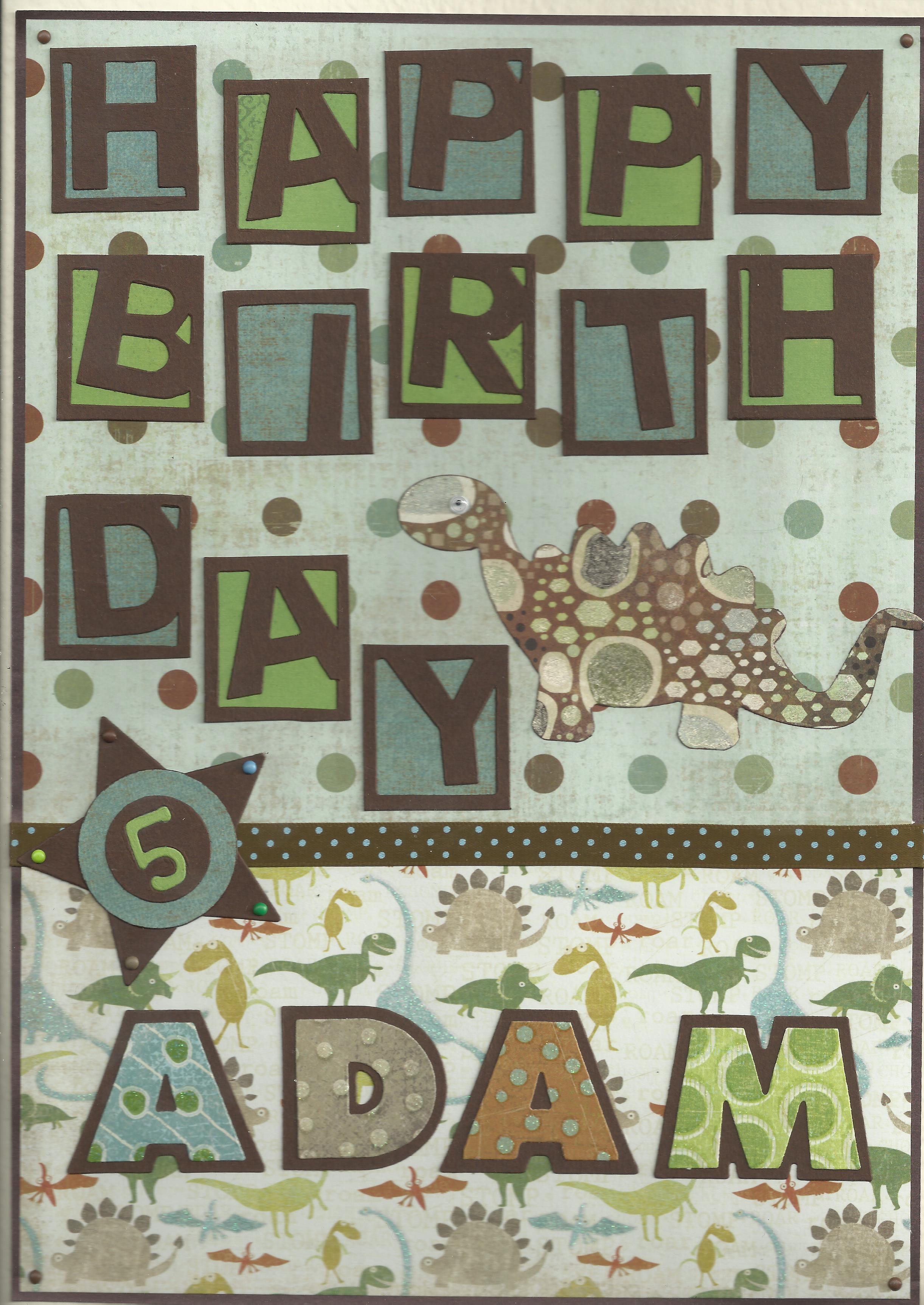Birthday dinosaur A4