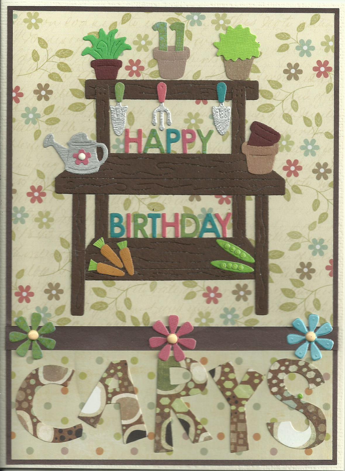 Birthday potting bench