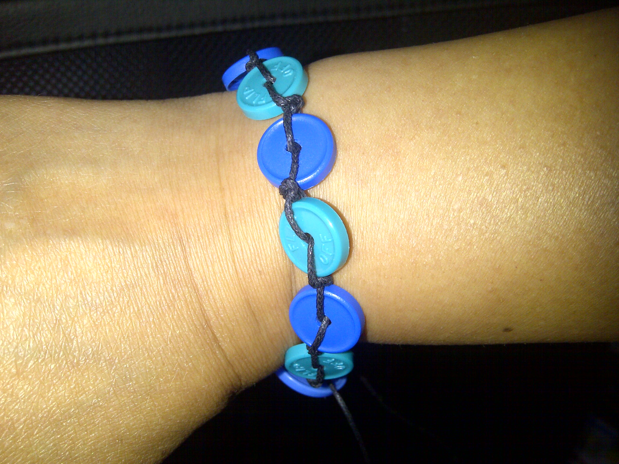 Injection cap bracelet 1