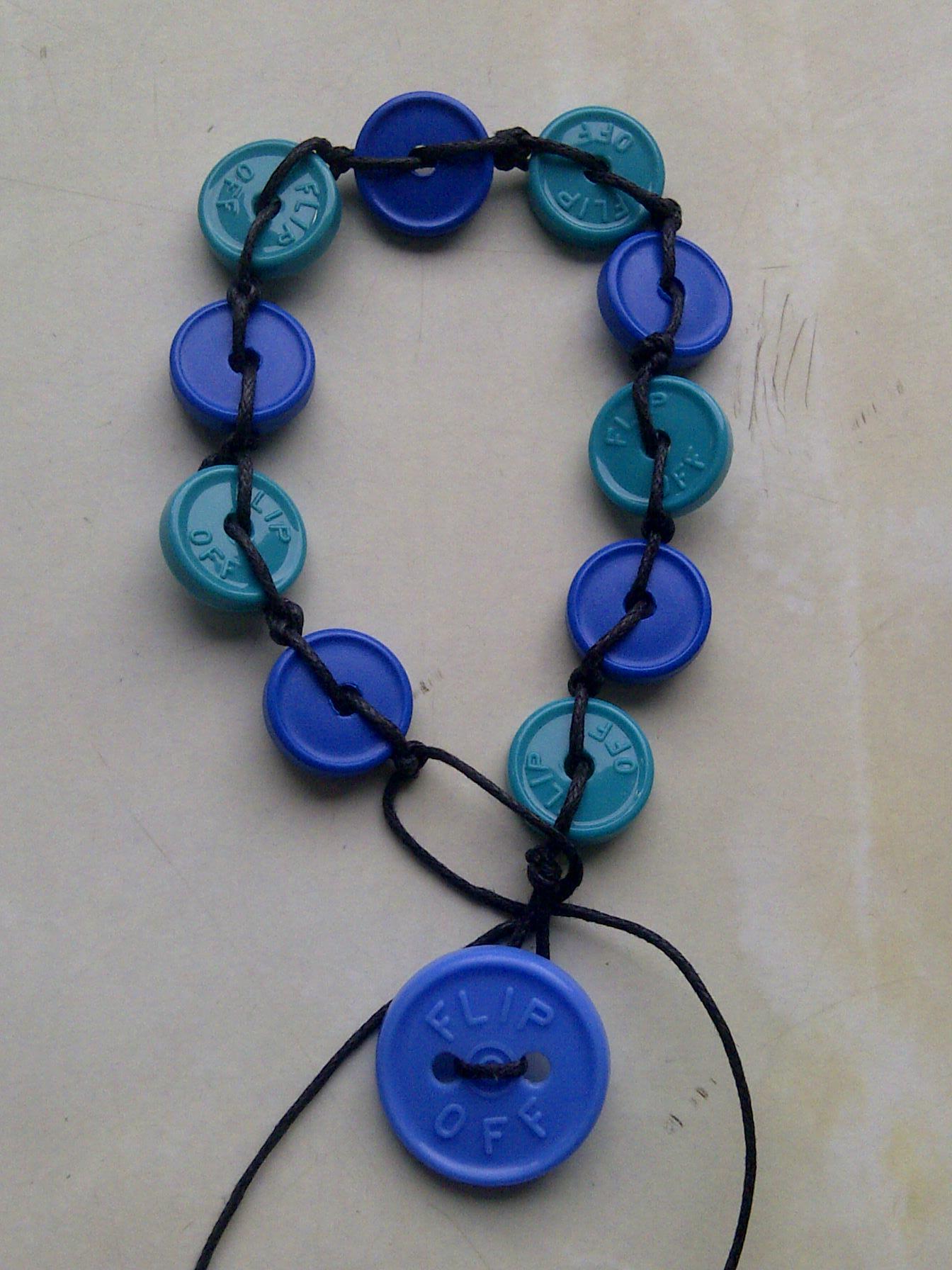 Injection cap bracelet 4