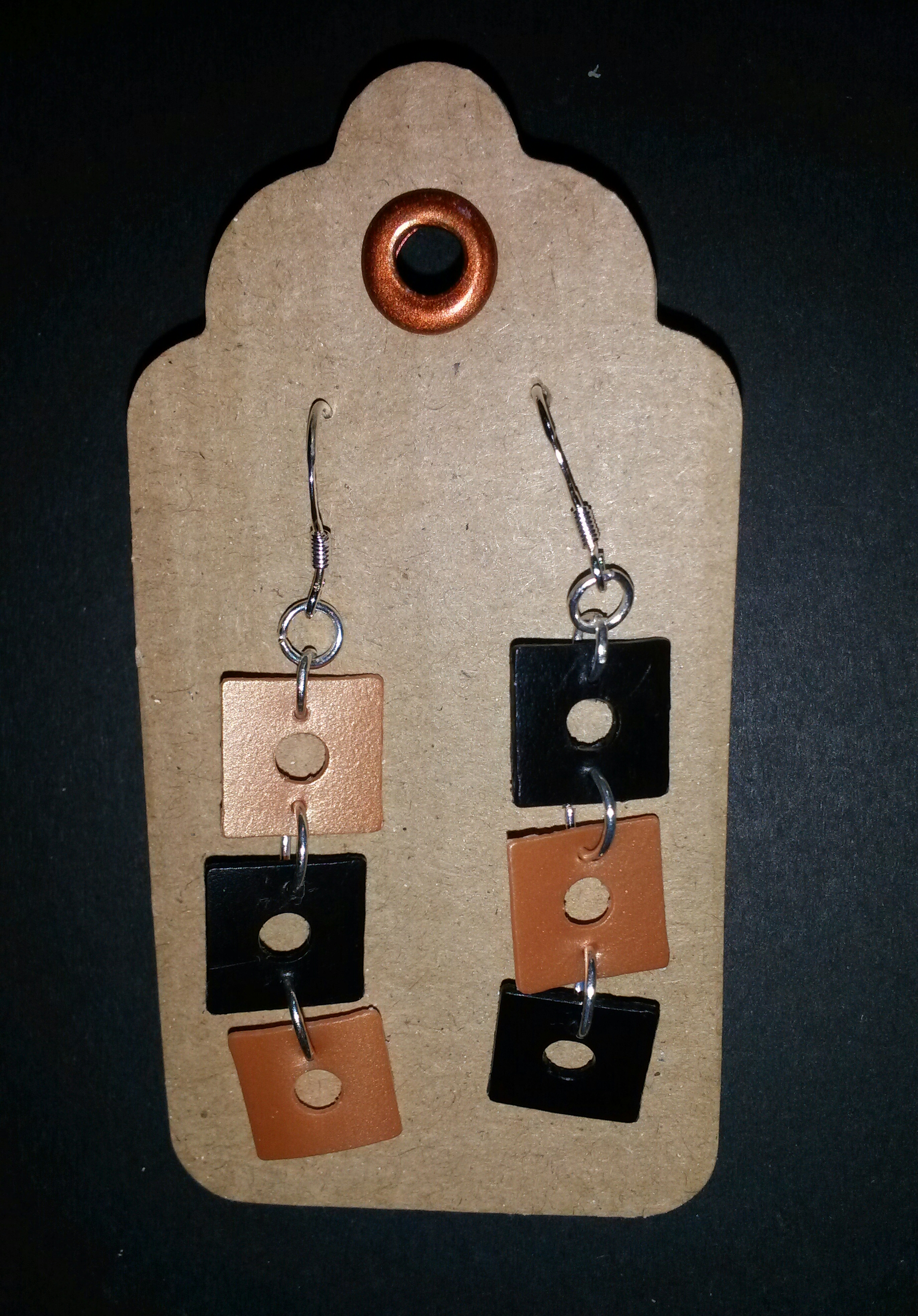 recycled plastic earrings 2