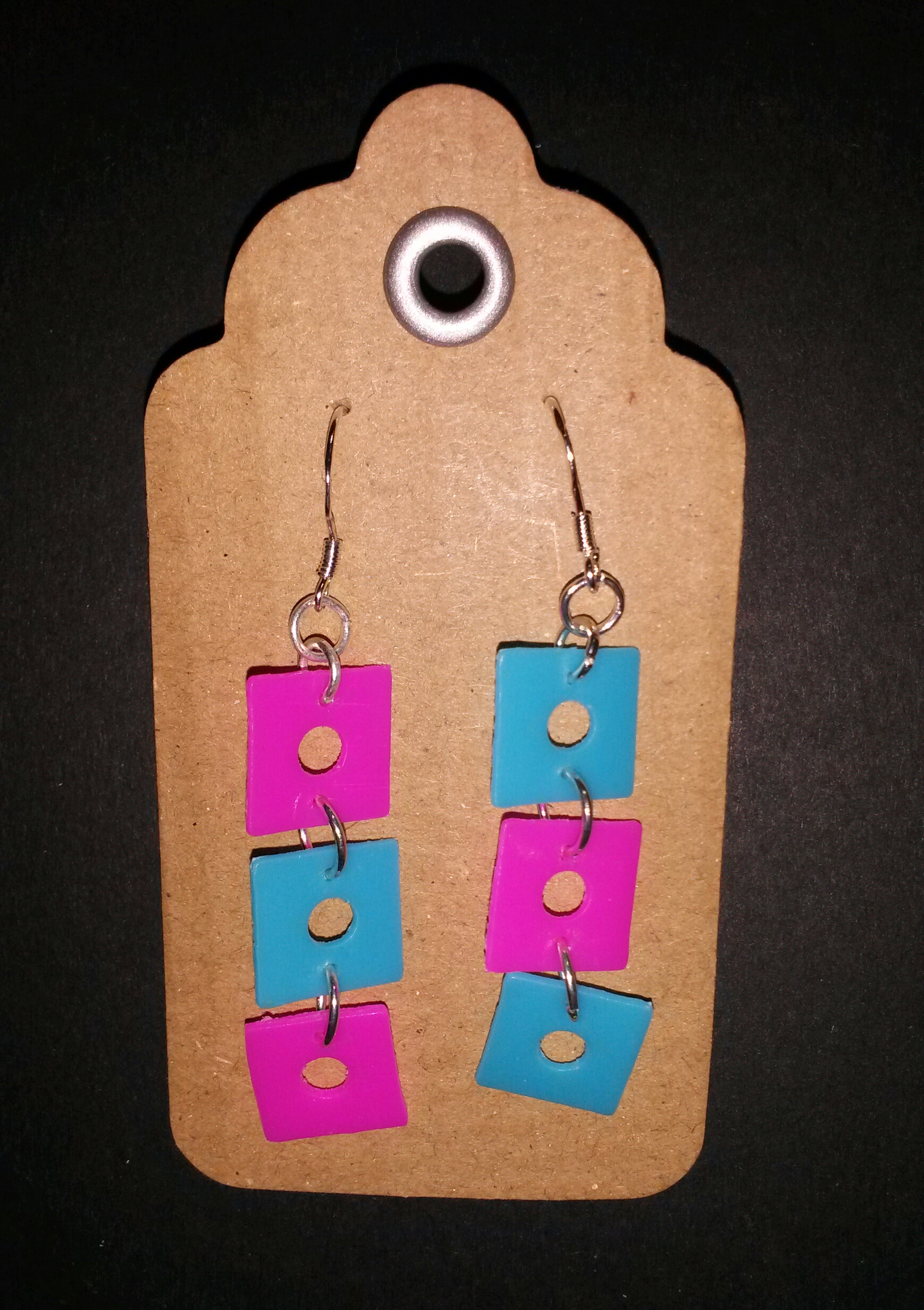 recycled plastic earrings 3