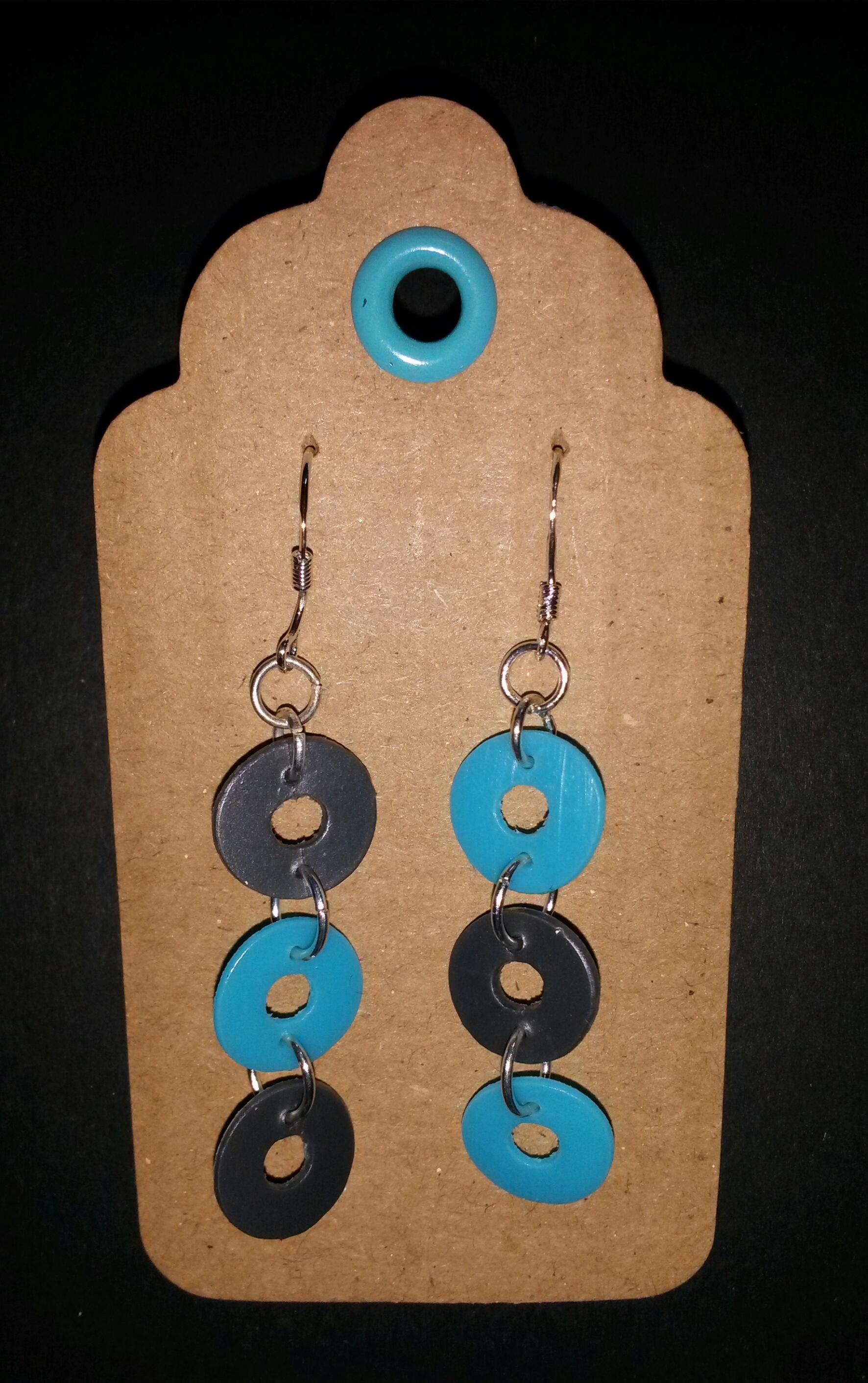 recycled plastic earrings 4