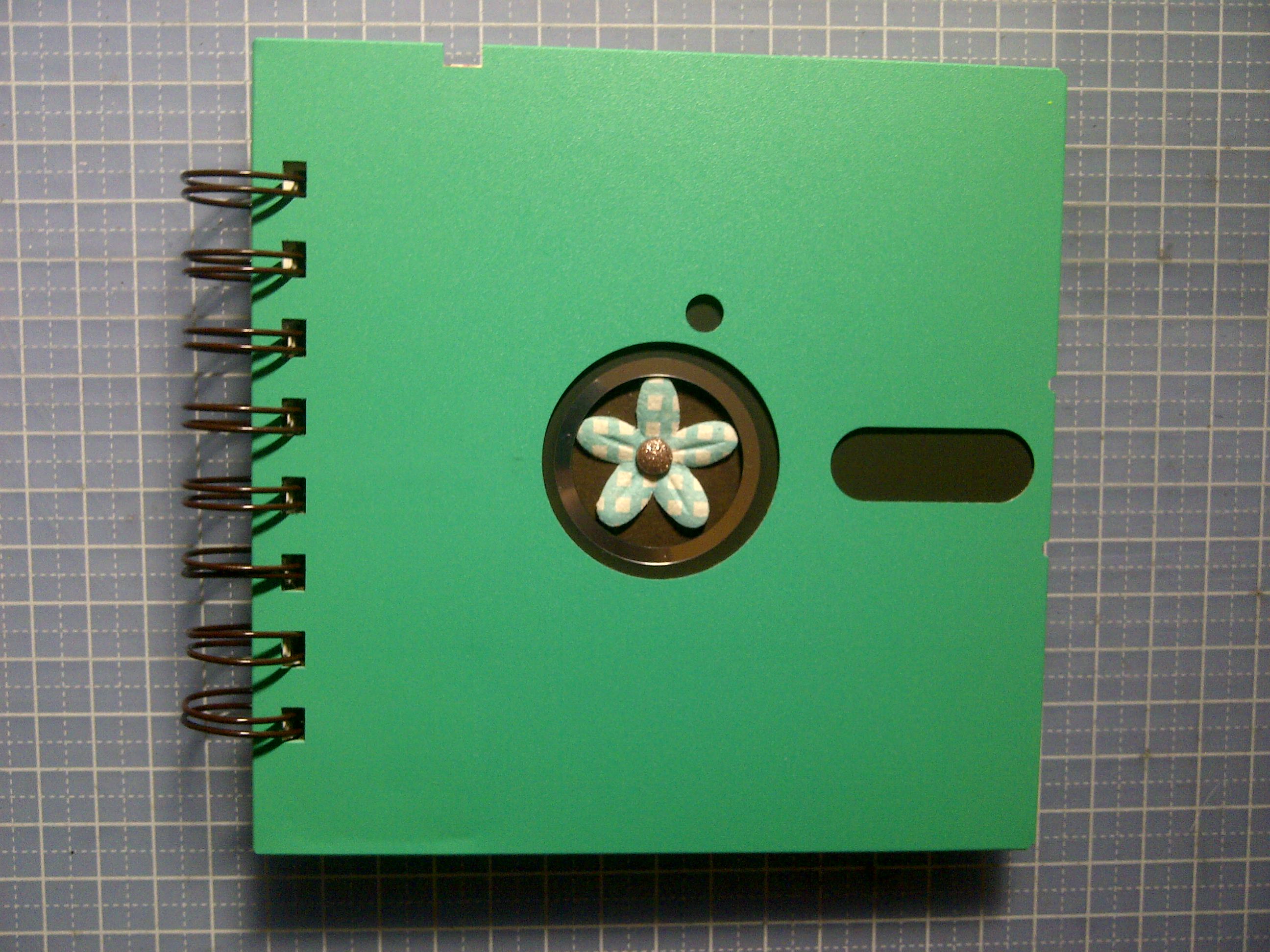 5 inch floppy notebook turquoise