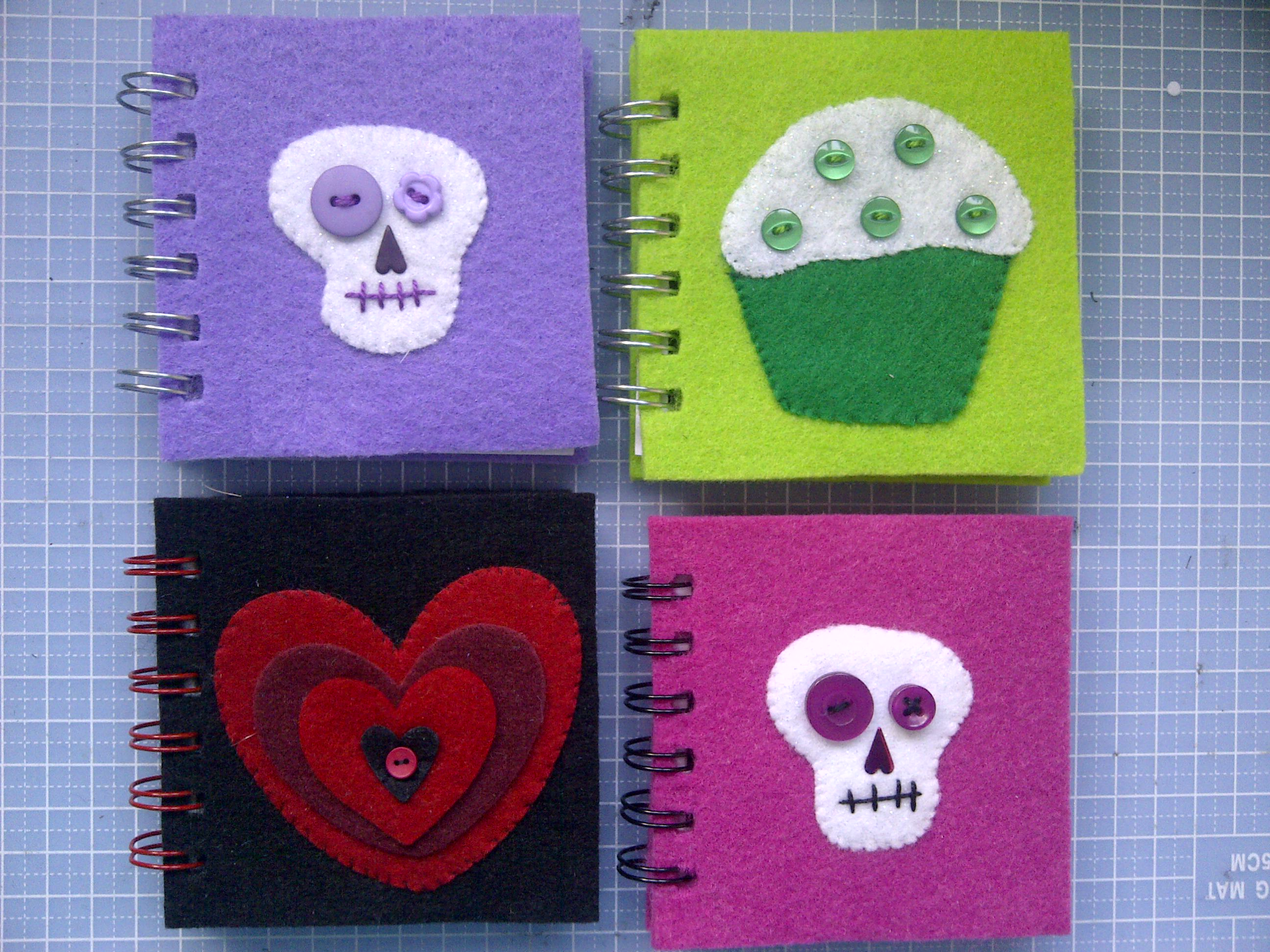 Felt notebooks 1