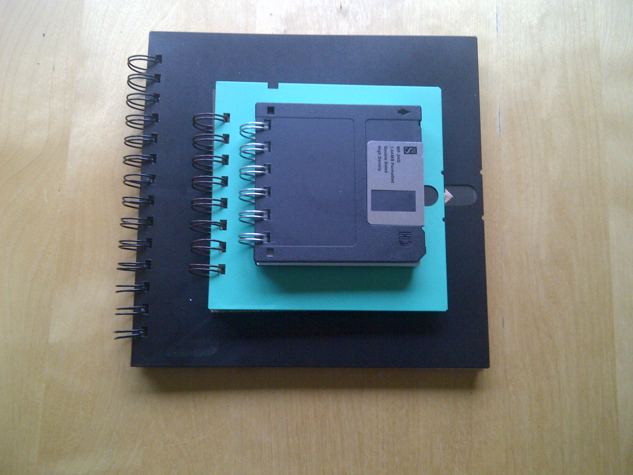 Floppy disk notebook family 1