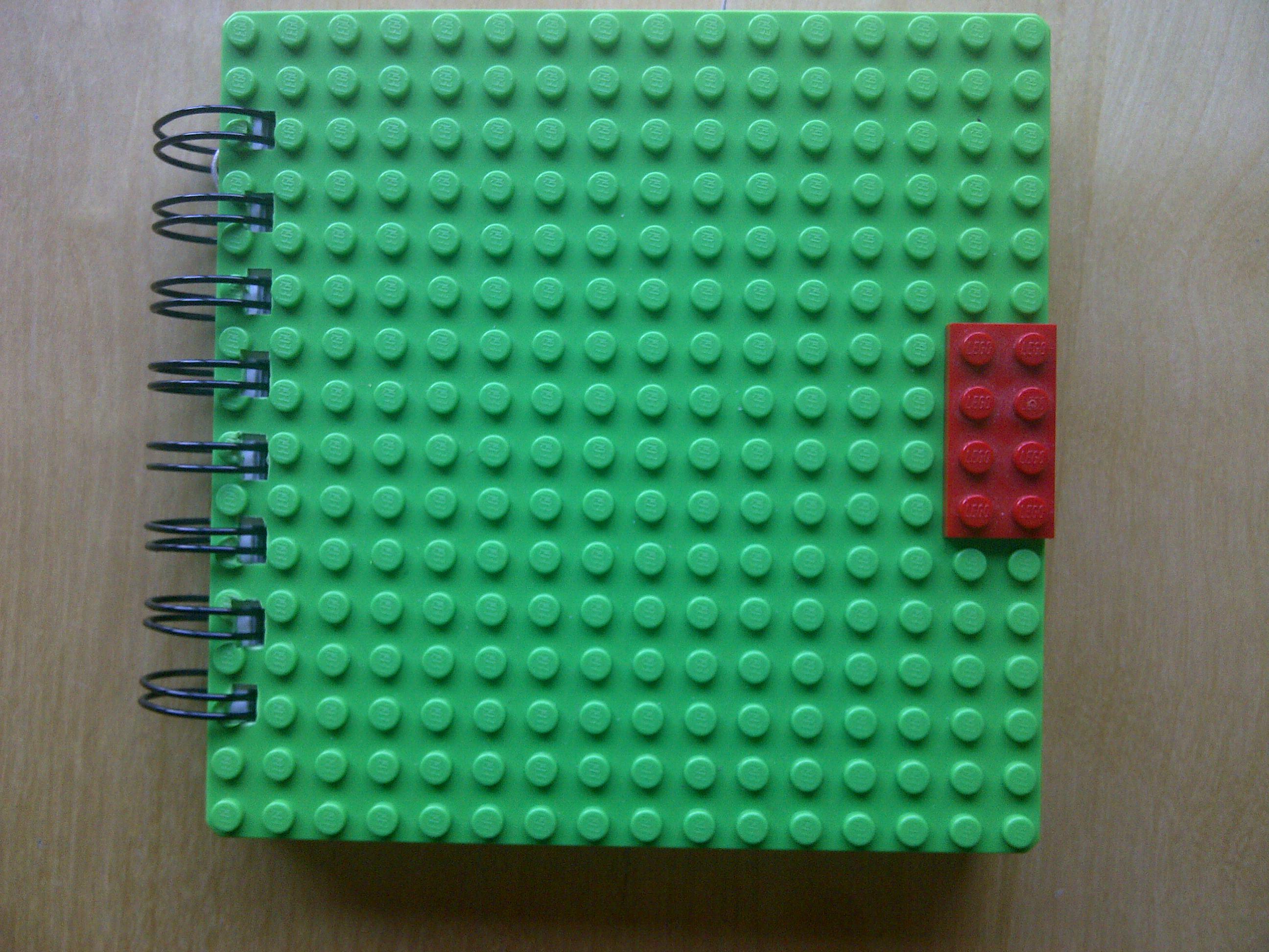 Lego book green