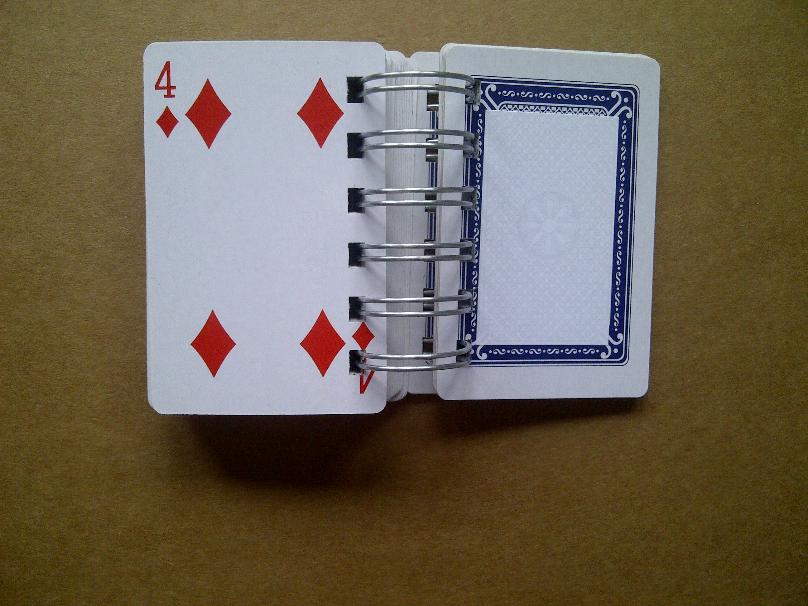Playing card book open 1