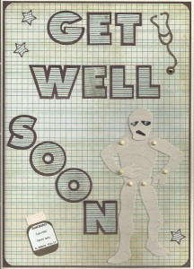 Get well mummy A4