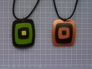 Plastic bottle pendants