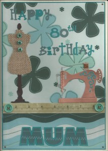 Vintage sewing birthday A4