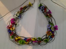 Recycled plastic eyelet necklace