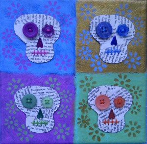 Day of the dead skulls canvas