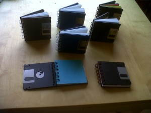 Floppy disk notebooks