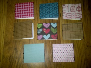 Mini pamphlet notebooks
