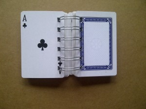Playing card book open 2