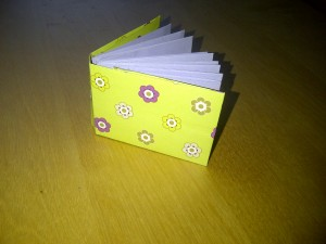 Mini origami notebook
