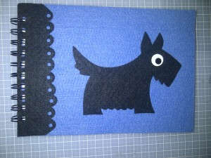 Felt scottie blue