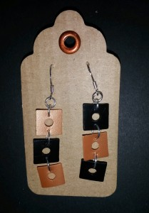 recycled plastic earrings 2