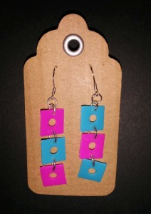 recycled plastic earrings 3